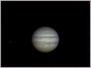 Jupiter mit GRF, Io und Ganymeds Schatten, 16.3.2014