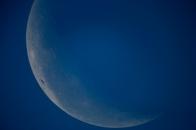 Der Mond am 24.5.2013 (Mittagszeit)