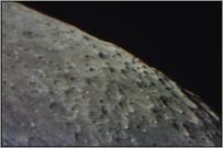 Die Region neben dem Mondkrater Moretus am 01.01.2014